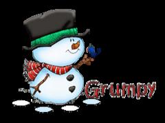 Grumpy - Snowman&Bird