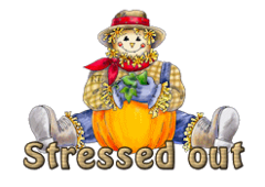 Stressed out - AutumnScarecrowSitting