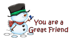 You are a Great Friend - Snowman&Bird