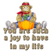 You are such a joy to have in my life - AutumnScarecrowSitting