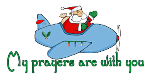 My prayers are with you - SantaPlane