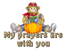 My prayers are with you - AutumnScarecrowSitting