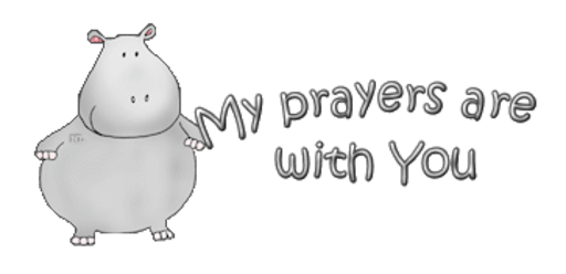 My prayers are with You - CuteHippo2018