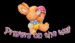 Prayers on the way - EasterBunnyWithEgg16