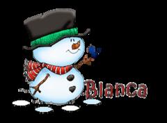 Blanca - Snowman&Bird