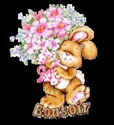 Bonsoir - BunnyWithFlowers