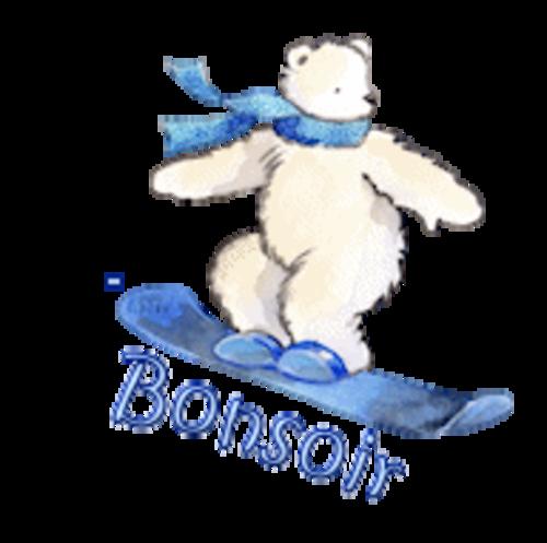 Bonsoir - SnowboardingPolarBear