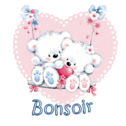Bonsoir - ValentineBearsCouple