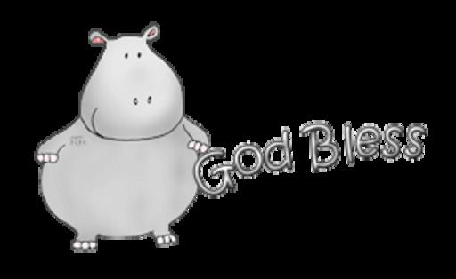 God Bless - CuteHippo2018