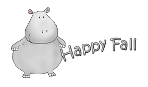 Happy Fall - CuteHippo2018