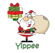 Yippee - SantaDeliveringGifts