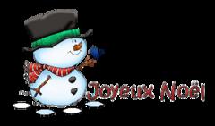Joyeux Noel - Snowman&Bird