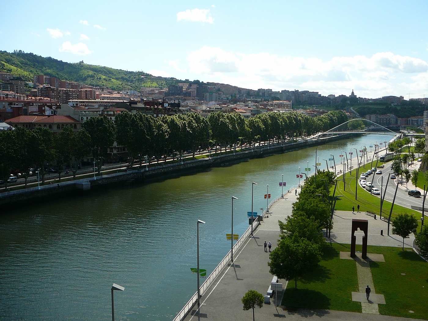 River behind Guggenheim in Bilbao
