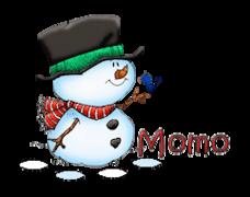 Momo - Snowman&Bird
