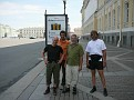 Tom, Karl M., Karl W. & Manfred am Dvorkovaya-Platz