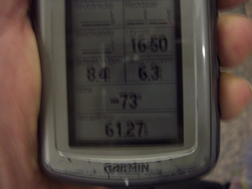 GPS zeigt -73m in der Metro an!