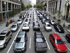 Space requirements of 200 people in 177 cars