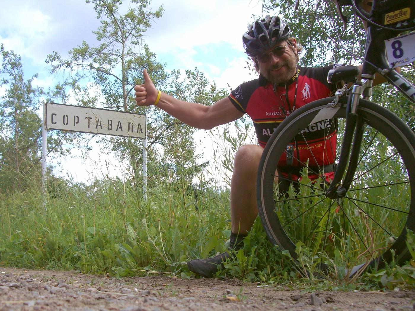 Manfred hat den Zielort Sortavala erreicht. :-)