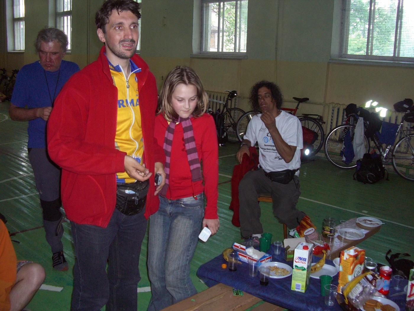 Mikhail mit Tochter