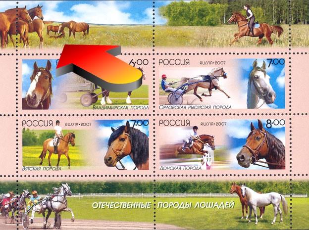 Issue 2007, horses. Выпуск 2007, лошади.