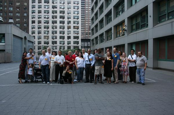 Group shot on the Terrace - Tuesday evening, June 10th