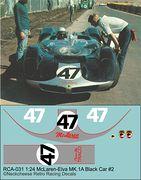 RCA-031 1-24 McLaren M1A #47 black car, DKK 60,- / € 8,80 + postage