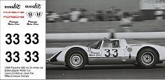 RCA-010 - 1:24 1966 Porsche 906 no.33 white Russkit car, DKK 50,- / € 6,70 + postage
