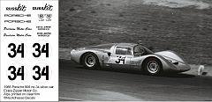 RCA-011 - 1:24 1966 Porsche silver car no34 Russkit, DKK 60,- / € 8,80 + postage
