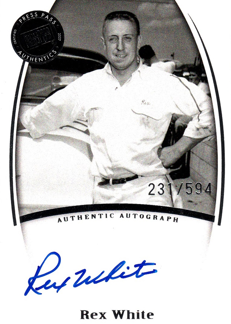 2007 Legends Autograph Rex White (1)