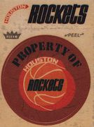 1974-75 Fleer Cloth Stickers Houston Rockets (1)