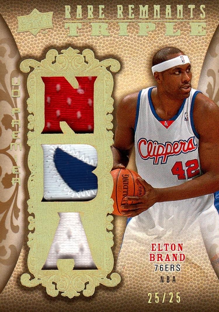 2008-09 UD Premier Rare Remnants Triple Elton Brand (1)
