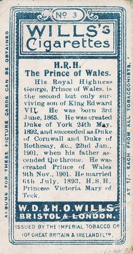 1908 Wills European Royalty #003 (2)
