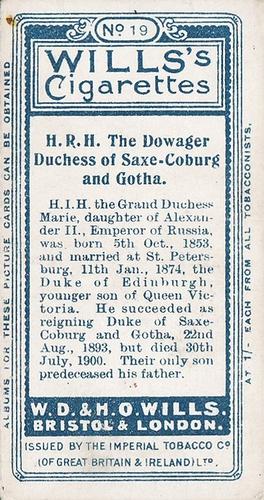 1908 Wills European Royalty #019 (2)
