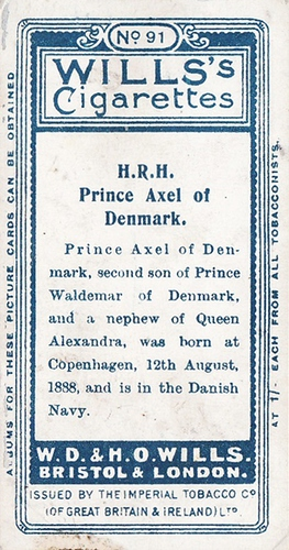 1908 Wills European Royalty #091 (2)