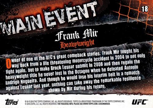 2010 Topps UFC Main Event #018 (2)