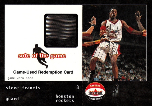 2001-02 Fleer Shoebox Sole of the Game Redemption Steve Francis (1)