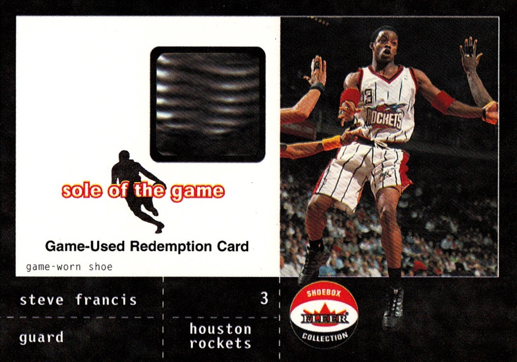 2001-02 Fleer Shoebox Sole of the Game Redemption Steve Francis (1)