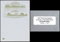 2007 Legends Press Plate Back Yellow #25
