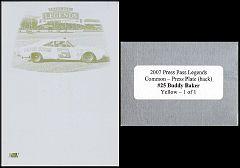 2007 Legends Press Plate Back Yellow #25