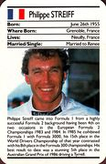 1987 Ace Fact Pack Philippe Streiff