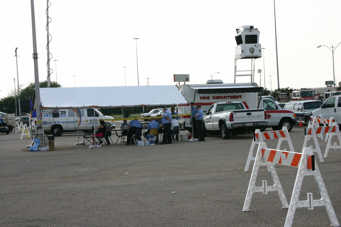 Press tent