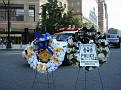Wreaths for the memorial