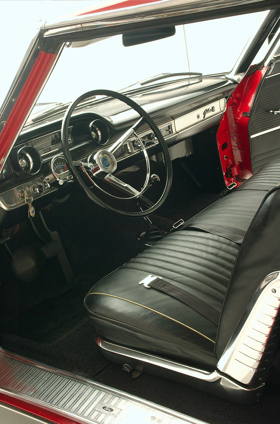1963 Ford Galaxie 500 XL 427 R-code driver-side vertical interior view