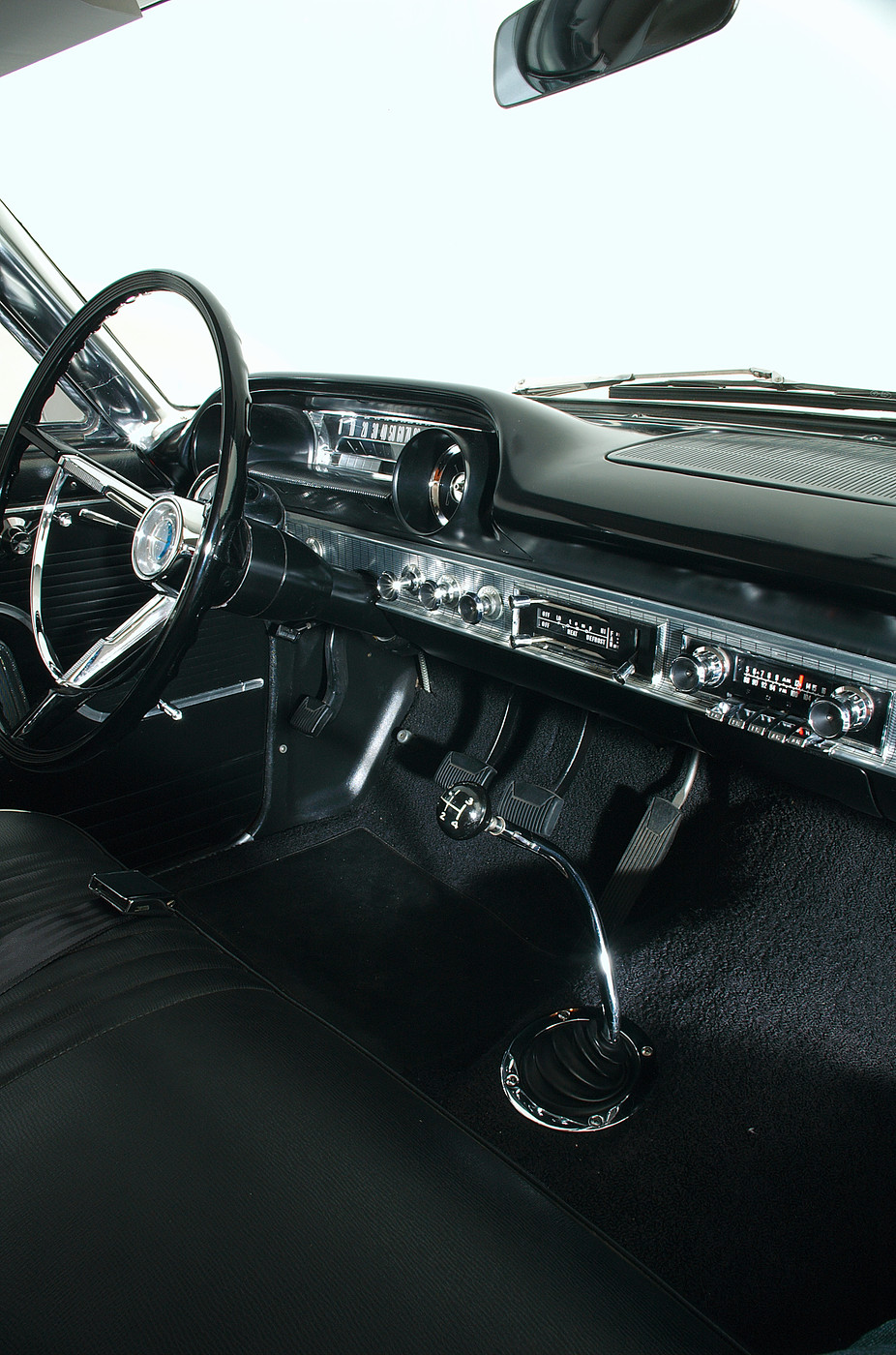 1963 Ford Galaxie 500 XL 427 R-code passenger-side vertical instrument panel view