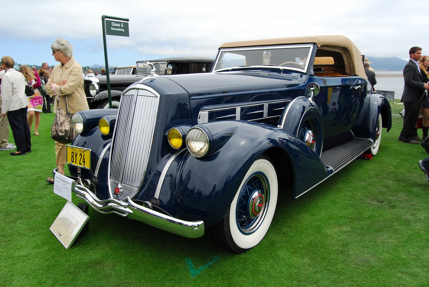 1938 Pierce-Arrow 1801 Convertible Coupe front exterior view