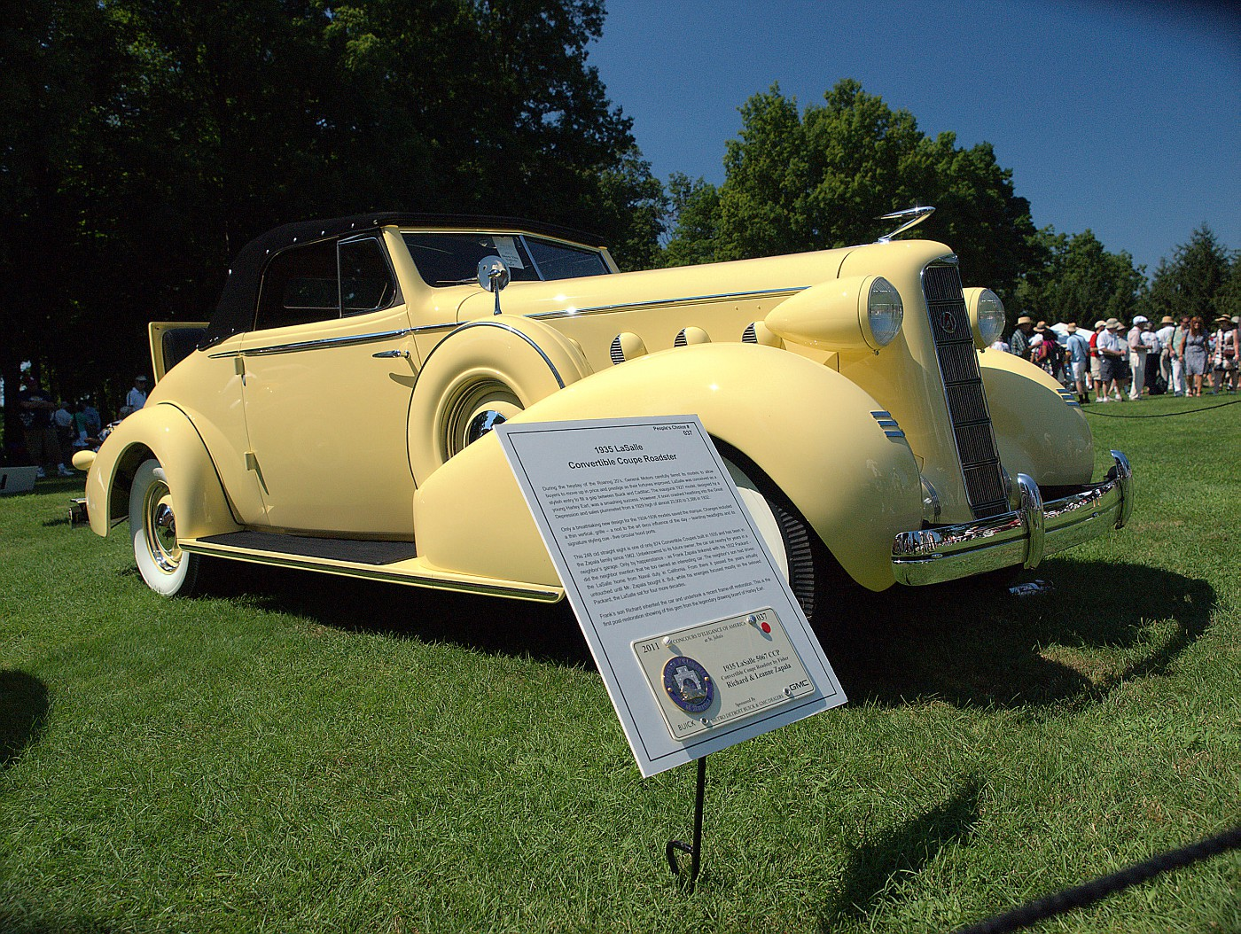 1935 LaSalle 5067 CCP owned by Richard & Leanne Zapala