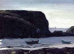 Harbor of Monhegan, Fish Boats (1911)