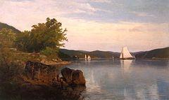 Sailboats on the Hudson [1878]