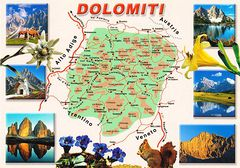 Dolomiti Map (BL)