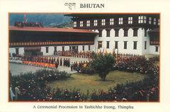 Bhutan - Ceremonial Procesion in Thimphu NF